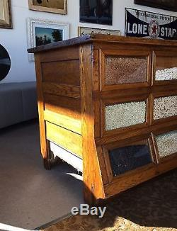 Sherer Gillett Oak 31 Drawer Bean Seed Counter Cabinet General Store