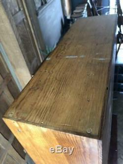 Small Antique Multi Drawer Cabinet, Counter Top Apothecary Cabinet, Nail Bin