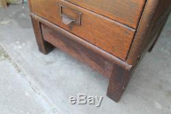 Small Sz Vintage Globe Wernicke Stacking File Cabinet Law Office Oak Industrial