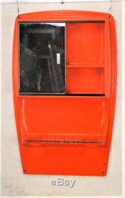 Space Age Orange Medicine Wall Bathroom Cabinet Apothecary era Joe Colomba HTF