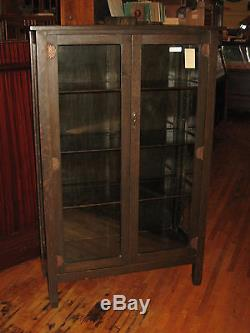Stickley Brothers Mission Oak 2 Door China Cabinet #968, #8444 Quaint  Furniture