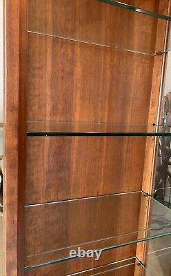 Stickley Furniture, Mission Collection, Tall Curio Display Cabinet Cherry Wood