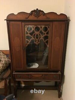 Stunning Antique China Cabinet dated 1929 great original drawer pulls. Pick up