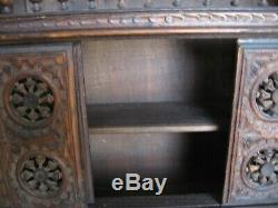 Stunning Antique/vintage Totally Hand Carved Small Wood Cabinet