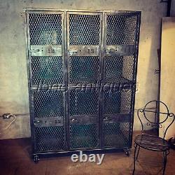 Stunning Set Of Industrial Lockers Large Cubbies /storage /kids Room/ Must See