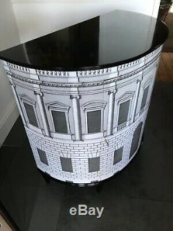 Stunning Vintage Demi Lune Cabinet 1950s 60s Fornasetti Era gio ponti italian