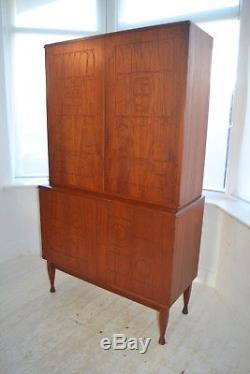 Stunning Vintage Scandinavian Teak Yngve Ekstrom Krus Cabinet