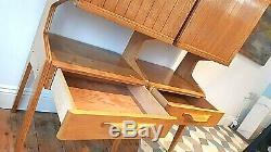 Superb Vintage Mid Century Italian Design Oak Cabinet Drinks Ex Con / Delivery