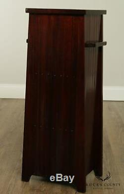 The Lakeside Craft Shops Mission, Arts & crafts Slag Glass Smoking Stand Cabinet