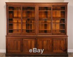 The Sun MFG. Co. Antique Oak General Display Cabinet Back Bar