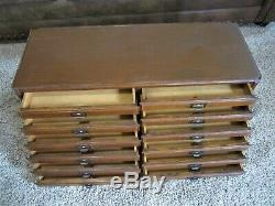 Tiger Oak Dentist Watchmaker File Cabinet Victorian Paper Jewelry Chest Storage