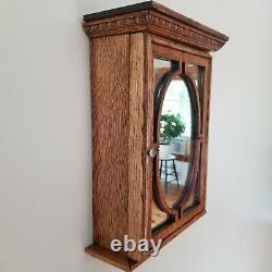 Tiger oak wall cabinet 15 x 10 Medicine Tobacco