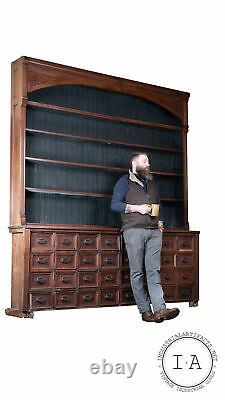 Turn Of The Century Apothecary Cabinet With Back Bar Display