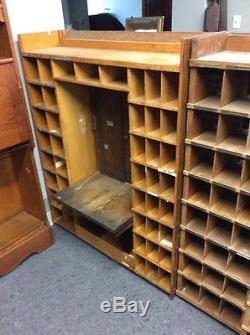 US Post Office Oak Mail Box Unit W 156 Corbin Combination Locks