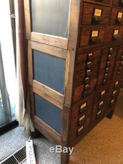 Unique Antique/Vintage 36 Drawers-3 Layers Library Card Catalog Cabinet