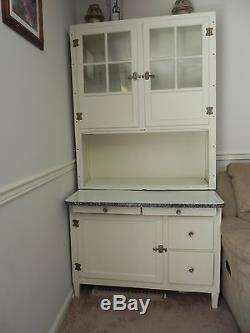 Vhtf Antique Hoosier Baking Cabinet Cupboard With Original Hardware Access  P/u Nj
