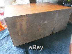 Vintage W. C. Heller Oak Apothecary Cabinet