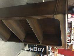 VINTAGE small walnut open bookshelf
