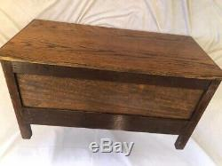VTG Low Cabinet Mission Oak Arts & Crafts Style 2 Doors PERFECT for TV