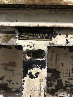 Very Old Vintage Medical Steel Dental Cabinet Original Patina