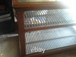 Victorian Bakery Show Case Display Cabinet Oak