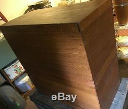 Vintage 1/4-sawn oak LIBRARY 30 Dr. Card catalog Cabinet, brass pulls, beautiful