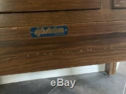 Vintage 15 Drawer Library File Card Catalog Storage Cabinet End Table