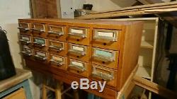 Vintage 15 drawer library card catalog cabinet