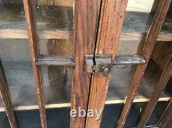 Vintage 2 door OAK colonnade style cabinet 50.25 x 39 x 14 doors 39.5 x 14