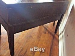 Vintage 5 Drawer Library Card Catalog Index File Cabinet Wood wooden brass