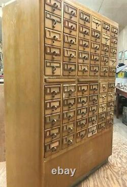 Vintage 60 Drawer Library Card Catalog 60 T x 40 W x 19 D Local Pickup Only
