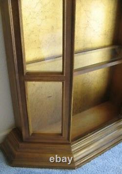 Vintage 69 Tall Wood Glass Front Lighted China Cabinet Curio Doll Cabinet