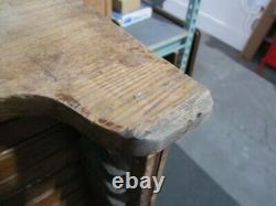 Vintage Antique Hamilton Printers Type 30 Drawer Oak Wood Flat File Map Cabinet