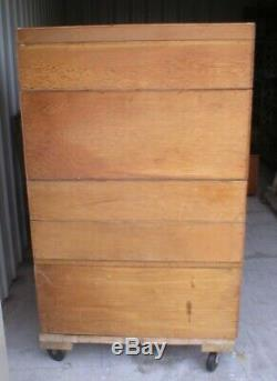 Vintage Antique Rare Oak Library File Card Catalog Cabinet 8 Sections (Reduced)