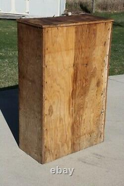 Vintage Apothecary Map Cabinet Country industrial Farmhouse Hardware Store wood