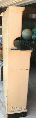 Vintage Apothecary Medical Dental Cabinet Wood Metal Furniture