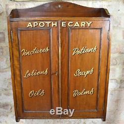 Vintage Apothecary Wall Cabinet Bathroom Signwriting Medical
