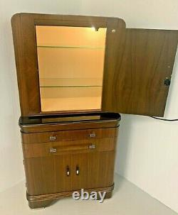 Vintage Art Deco Mid Century Modern Doctor's Office Medical Cabinet by Hamilton