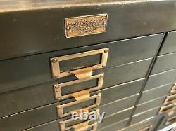 Vintage Artist Cabinet Allsteel General Fireproofing Metal WithBrass Youngstown OH