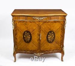 Vintage Burr Walnut Marquetry side Cabinet Epstein