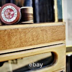 Vintage Clarks Anchor Cotton Shop Display Cabinet Haberdashery Bank of Drawers