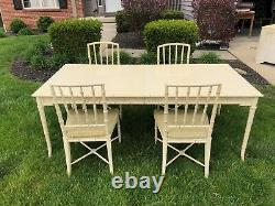 Vintage Drexel Kensington faux bamboo Buffet Only. Table And Chairs 1600.00