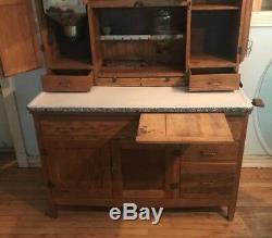 Vintage Hoosier Kitchen Cabinet McDougal Oak