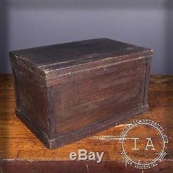 Vintage Industrial 2 Drawer Wooden Storage Cabinet