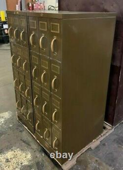 Vintage Industrial ART METAL Steel / Library Card Sorter File Cabinet