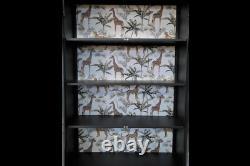 Vintage Industrial Display Cabinet Vintage Safari Metal Glass Decor Designer