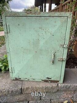 Vintage Industrial Metal Hanging Cabinet