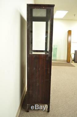 Vintage Industrial Metal Steel Storage Display Medical Dental Bathroom Cabinet