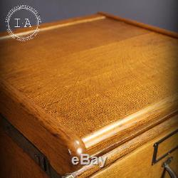 Vintage Industrial Yawman Erbe 2 Drawer Filing Cabinet