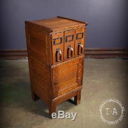 Vintage Industrial Yawman Erbe 3 Drawer Stacking Filing Cabinet